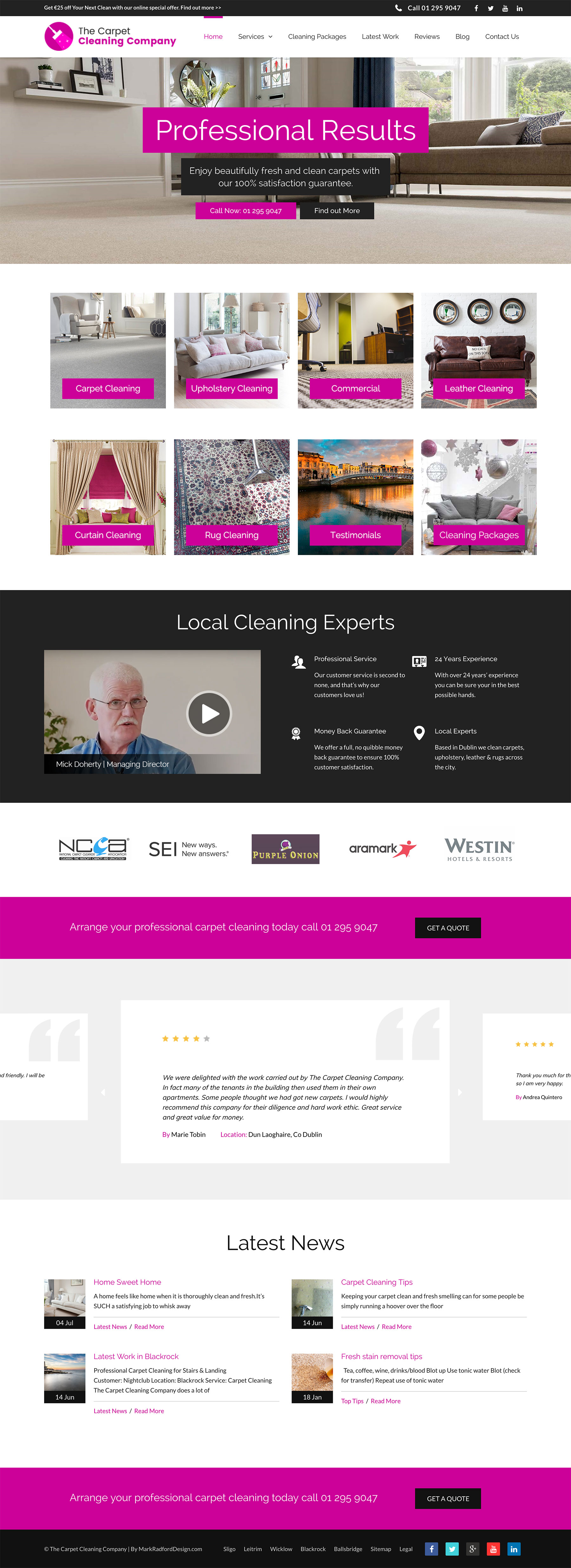 The Carpet Cleaning Company Mark Radford Design